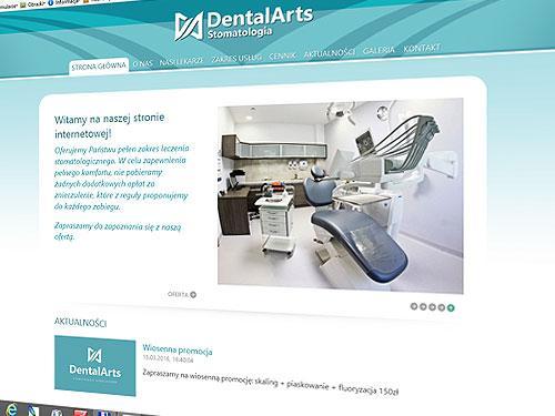 Dental Arts – strona www i pełne corporate id