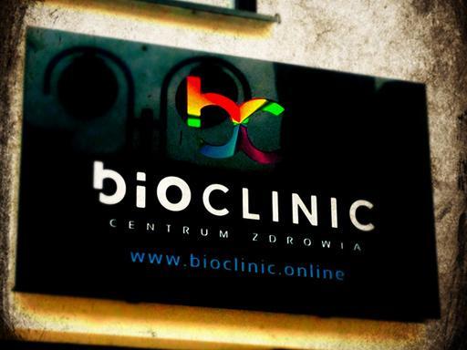 Kaseton reklamowy Dibond LED Premium dla centrum zdrowia BioClinic