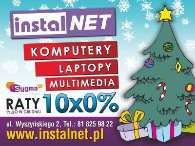 Reklama wizualna na telebimy dla firmy InstalNET.