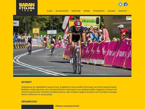 Strona internetowa drużyny kolarskiej Baran Cycling Team