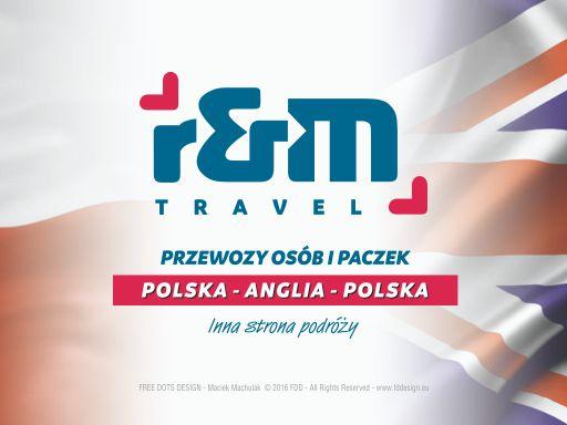 Projekty reklamowe – R&M TRAVEL – przewozy zagraniczne polska – anglia.