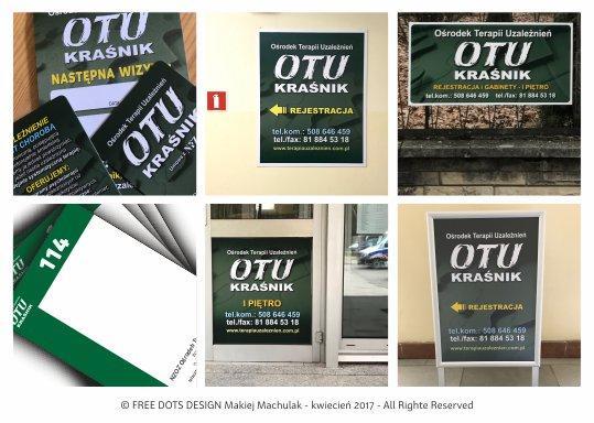 Projektowanie Graficzne dla firm – OŚRODEK TERAPII UZALEŻNIEŃ – reklamy nowej siedziby.