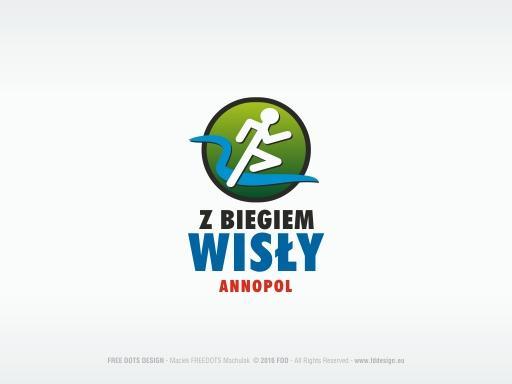 """V Festiwal Biegowy """"Z Biegiem Wisły"""" – projekty graficzne."""