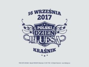 Znak graficzny na materiały reklamowe i koszulki z okazji wydarzenia - Polski Dzień Bluesa 2017