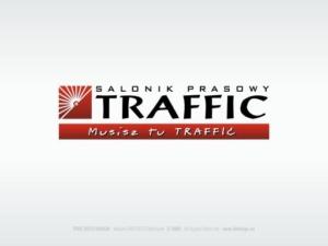 Salonik Prasowe TRAFFIC - logotyp i pełna identyfikacja wizualna firmy.