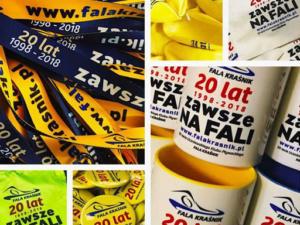 UKP FALA Kraśnik 20-lecie działaności Klubu. Materiały promocyjno-reklamowe - gadżety , statuetki, dyplomy, torby plecaki, ulotki