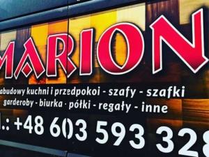 Projekt i oklejenie aut firmowych dla firmy MARION - MEBLE NA WYMIAR.